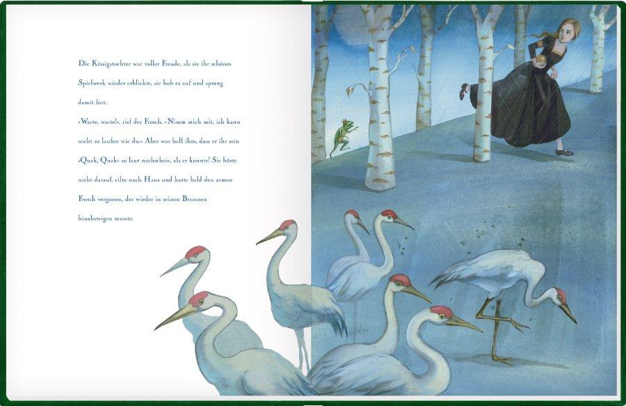 Henriette Sauvants eigenwilliger Illustrationsstil verbindet sich fabelhaft mit dem Märchen unserer Kindheit © Coppenrath
