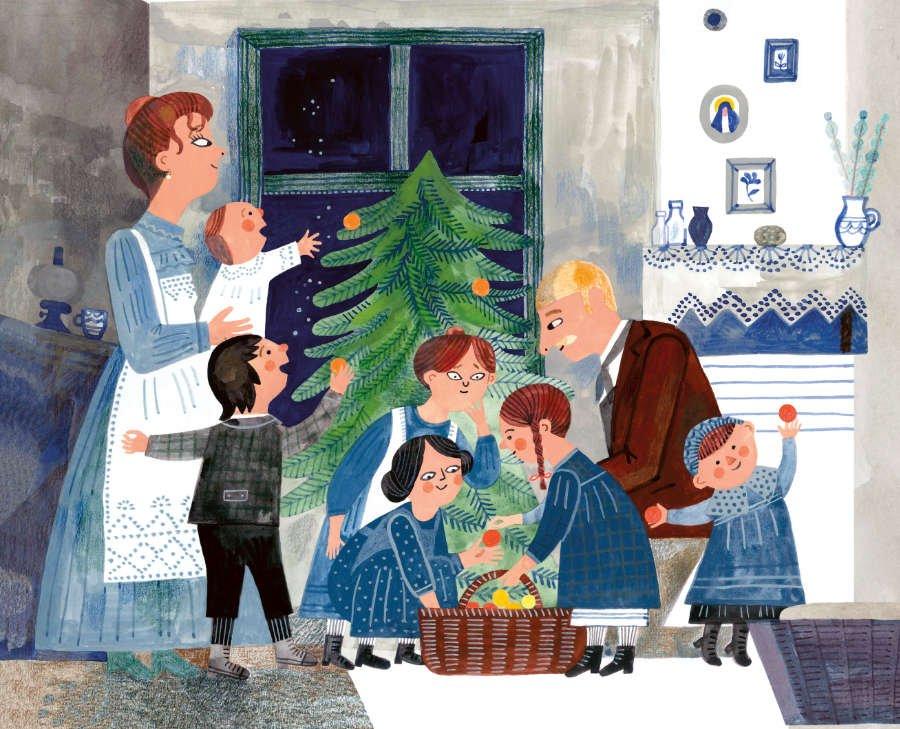 """Warum musste der Apfel der Kugel weichen? Spannende Insights katapultieren dieses Buch in die Kategorie """"Die schönsten Weihnachtsbücher"""". © NordSüd Verlag"""