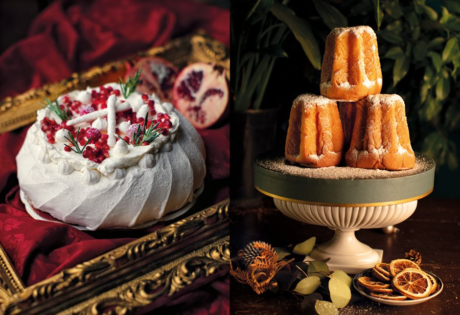 Culture-Clash der Kuchen: Die legendäre Pavlova trifft auf knuffige Mini Pandori © Danny Bernardini/Prestel Verlag