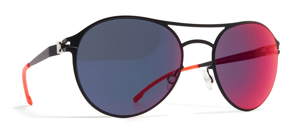 MYKITA FIRST SUN – SPARROW R1-Black Scarlet Flash: der Hingucker
