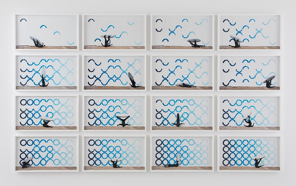 Der Zyklus Breaking Waves, 2014-15, stand Pate für die Aktion Paries Pictus - Draw The Waves, 2015.