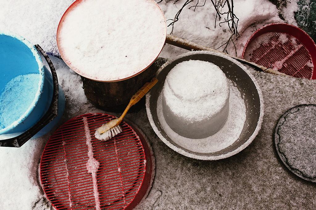 Die Versuchsanordnung für leckeres Eis --- © Meike Bergmann, TRIAS Verlag