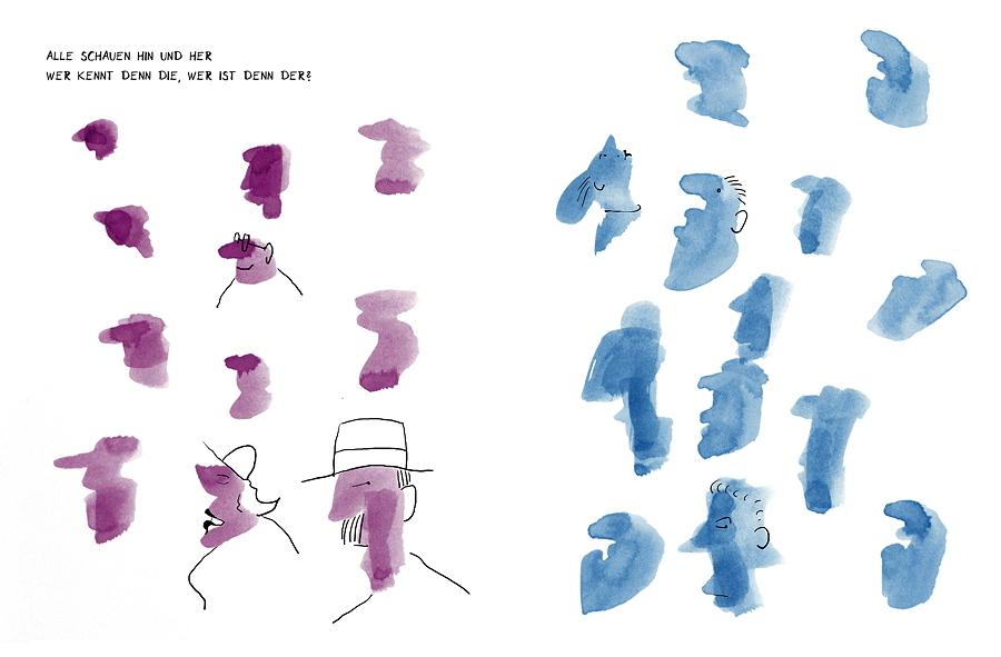 Minimalismus: Kleine Striche – große Wirkung: Minimales Reinkritzeln erweckt Flecken zum Leben! © Verlag Antje Kunstmann