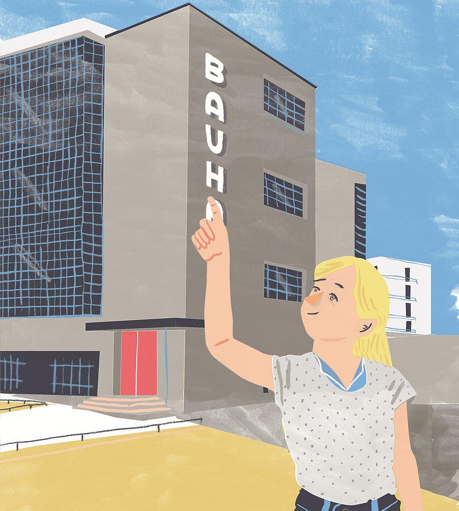 Lotte und Max fragen ihrem Vater Löcher in den Bauch und so erfahren wir eine ganze Menge über das Bauhaus. © 2015 Stiftung Bauhaus Dessau, Christine Rösch