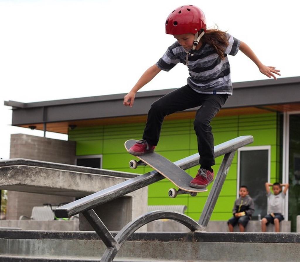 Harper doing a Backside Boardslide