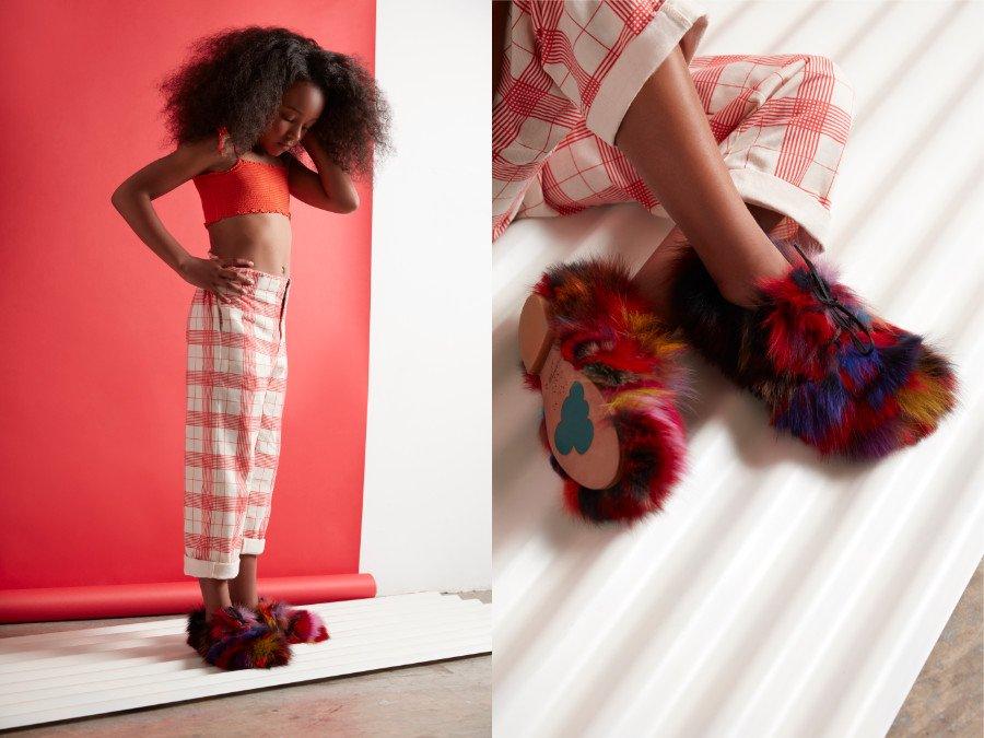 Zwei Meerschweinchen auf dem Weg zur Fashion Week? Das Modell Buzzard von Chapter 2 weckt Assoziationen. © Hannah Coates