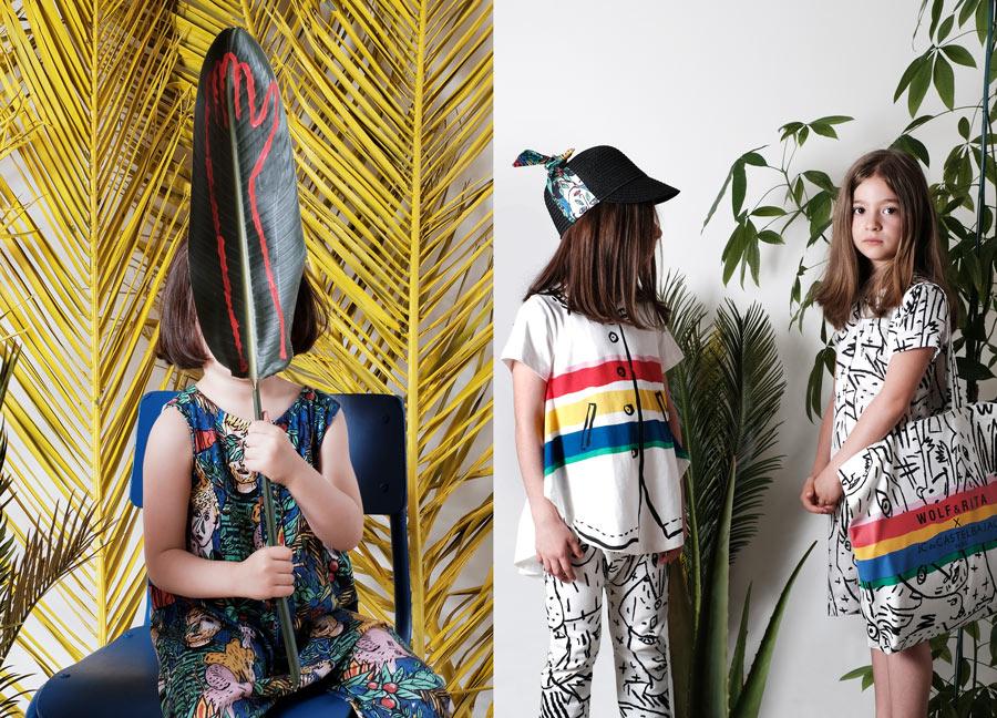 """Expressionistische Muster und """"Trompe L'œil""""-Effekte charakterisieren die Capsule Collection von Wolf & Rita x JC de Castelbajac Paris"""