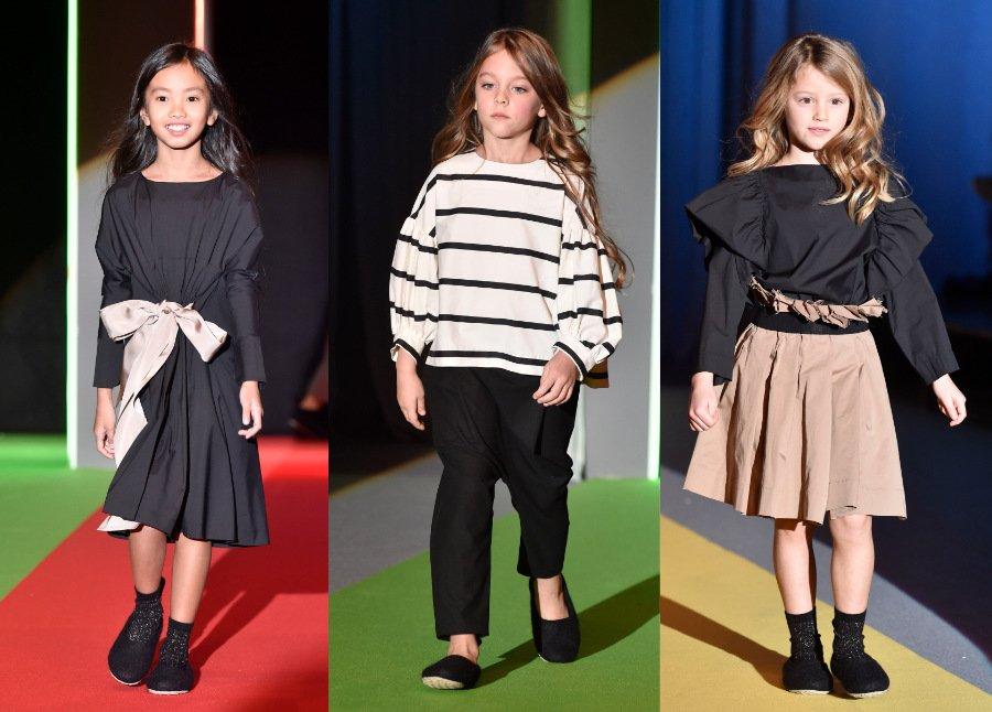Schlichte Eleganz aus Litauen: Das Outfit in der Mitte erinnert an Coco Chanels berühmten Freizeit-Look © Giovanni Giannoni