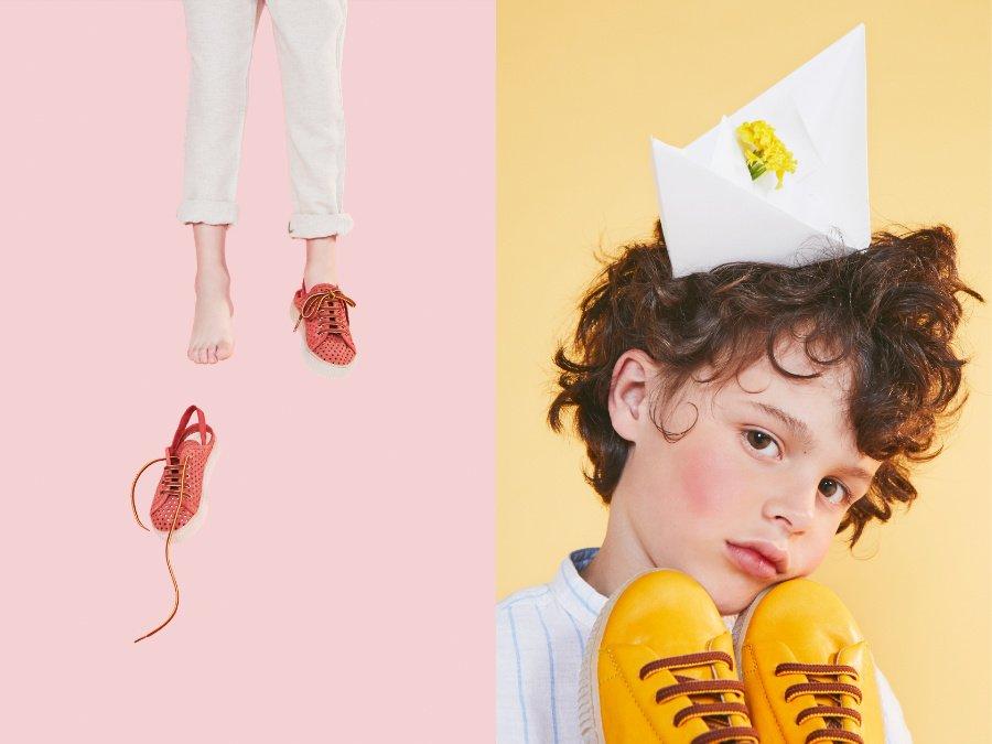 Hochwertige Kinderschuhe, die neue Wege gehen: Novel Walk setzt diesen Sommer auf Slingback-Sneaker. © Carmen Ordoñez