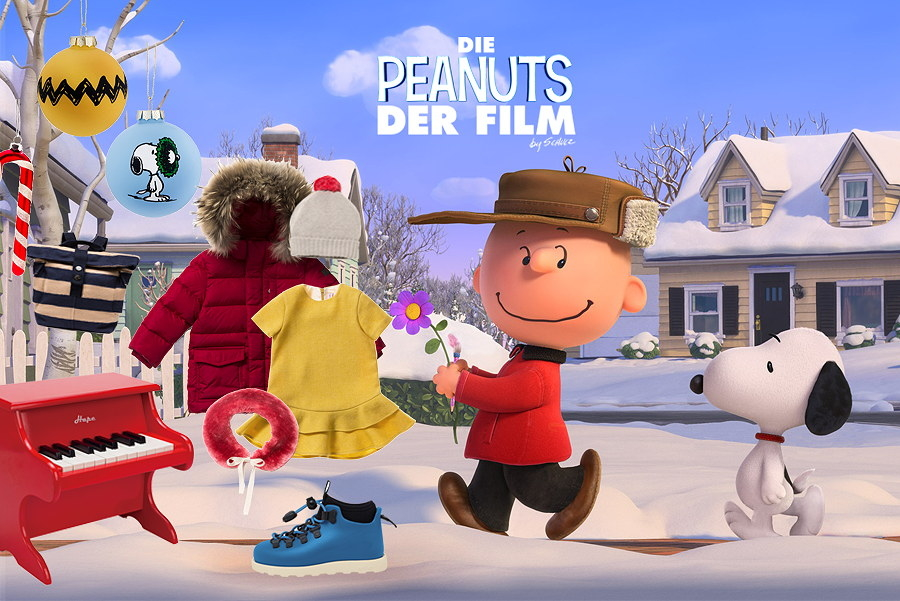 Charlie Brown und Snoopy wollen das rothaarige Mädchen besuchen – Collage by Torsten Gatterdam © kaltes klares wasser; Background Image © Twentieth Century Fox