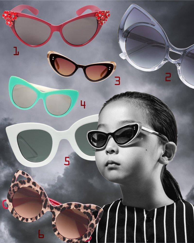 """Nachts sind alle Katzen grau? Es sei denn, sie tragen die bunten Cat-Eye Sonnenbrillen. Mädchen mit """"Josie""""-Brille © Sons & Daughters"""