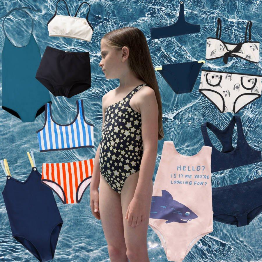 Einer der Bademode-Trends für den Sommer 2018 ist der Badeanzug, mal sophisticated, mal humorvoll