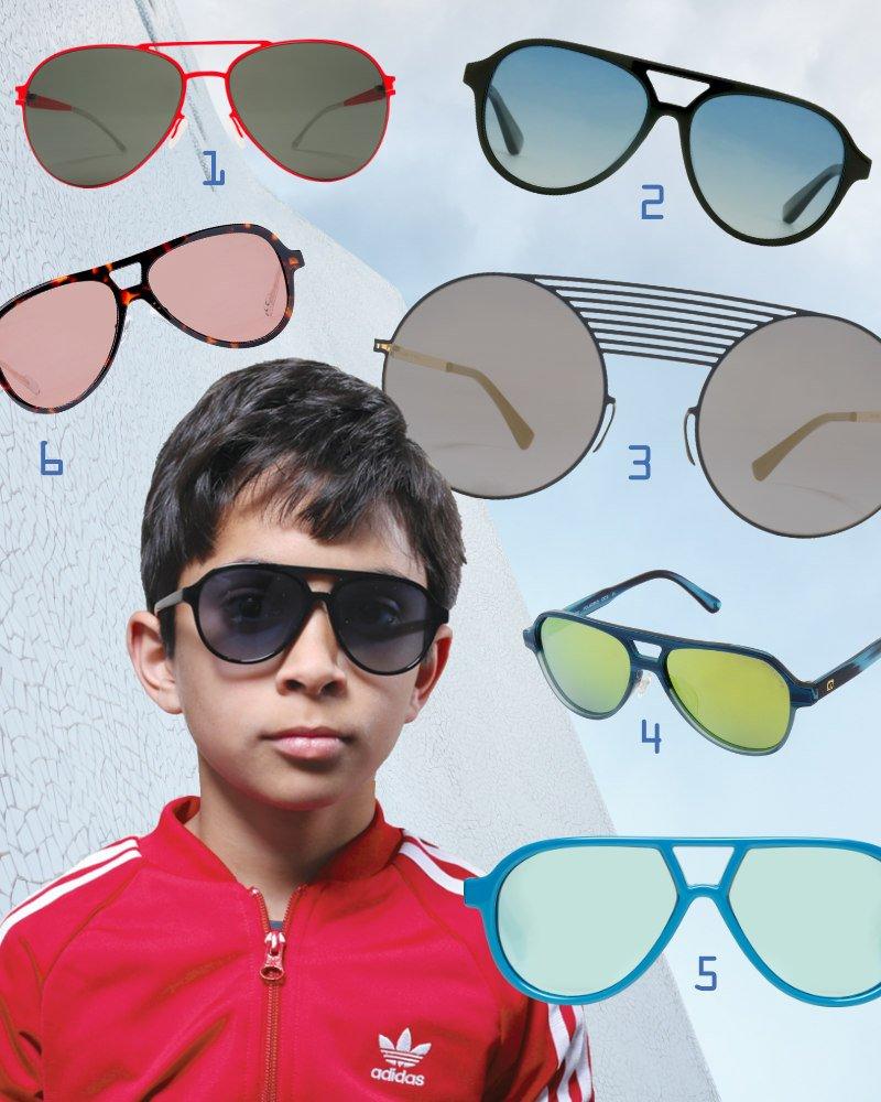"""Cool und avantgardistisch sind die Sonnenbrillen für Kinder und Erwachsene im Aviator-Style wie die """"Axel"""" von Winkniks"""