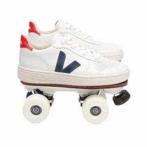 Rollschuh-Sneaker von Veja X Flaneurz über smallable
