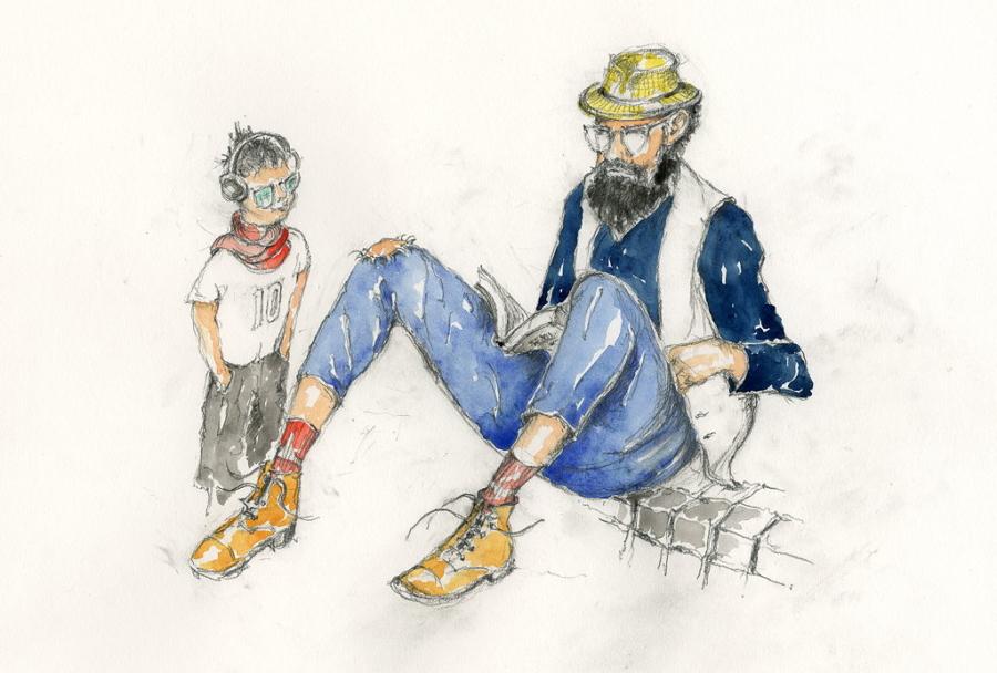 Ich bin wie du! Der Trend zur Uniformierung lässt die Grenzen zwischen Alt und Jung verschwimmen. Illustration © Klaus-Jürgen Ulbricht